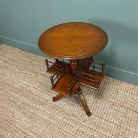 Antique Walnut Revolving Victorian Bookstand Table (5 of 6)
