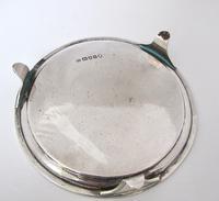 Elegant Georgian silver card tray Henry Chawner London 1791 (5 of 8)