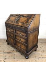 Early 20th Century Antique Oak Geometric Bureau (M-1657) (4 of 17)