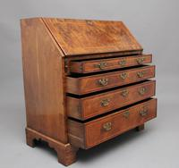 18th Century walnut & feather banded bureau (10 of 17)