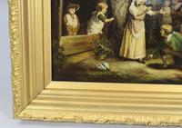 Pair of Early 19th Century Country Genre Scenes Oil on Canvas (14 of 21)