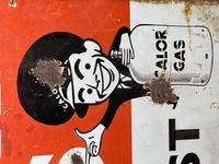 Vintage Original English 1950's Enamel Advertising Sign Calor Gas Stockist (14 of 22)