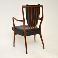 Rosewood & Leather Dining Table & Chairs by AJ Milne for Heals (7 of 22)
