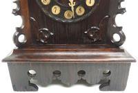 Rare Cuckoo Mantel Clock – German Black Forest Carved Bracket Clock (8 of 12)