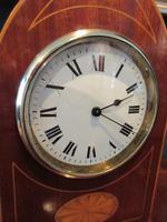 Superb Antique Sheraton Inlaid Mantel Clock (4 of 6)