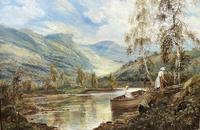 Scottish Loch, Signed: Theodore Hines (5 of 5)