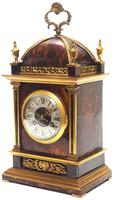 Incredible French Shell Mantel Clock French Cubed 8-day Miniature Bracket Clock (5 of 11)