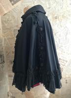 Antique taffeta opera cape, embroidered (7 of 11)