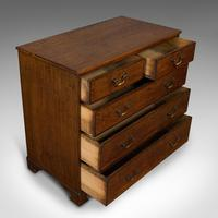 Antique Chest of Drawers, English, Oak, Tallboy, Early Victorian c.1840 (8 of 12)