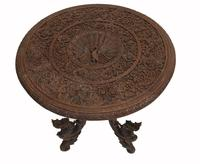 Burmese Side Table Antique Carved Burma Furniture (2 of 11)