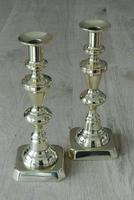 Pair of Victorian Brass Candlesticks 10 Inch Good Condition Polished c.1890 (6 of 6)