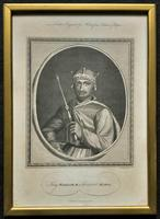 Rare Set of 12 Original 18th Century Engraving's of Kings & Queens of England (8 of 18)