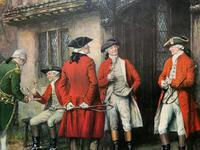 ''Before The Hunt'' Wonderful Large Vintage 18th Century Style Print on Board Picture (7 of 12)