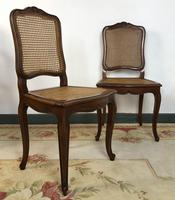 Vintage French Set of 6 Cherrywood Bergère Cane Dining Chairs with Carvers (8 of 14)