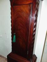 Georgian Scottish Cuban Mahogany Longcase Clock (6 of 10)