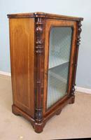 Antique Victorian Burr Walnut Display Cabinet (2 of 9)