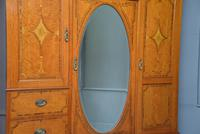 Stunning Victorian Satinwood & Marquetry Compactum Wardrobe (16 of 24)