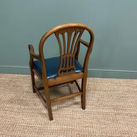 Elegant Pair of Edwardian Walnut Hepplewhite Design Antique Carver Chairs (6 of 7)