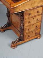 Antique Mid-victorian Burr Walnut Davenport Desk (9 of 12)