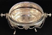 Victorian Silver Plate Breakfast / Caviar Dish (5 of 6)