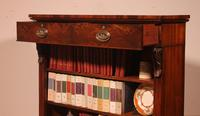 19th Century Mahogany Open Bookcase with Two Drawers (8 of 12)
