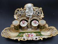 Very Fine & Rare Late 19th Century Continental Porcelain Encrier (6 of 6)