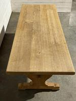 Bleached Oak French Trestle End Farmhouse Dining Table (25 of 28)