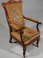 Shapely Mid 19th Century Rosewood Armchair (3 of 5)