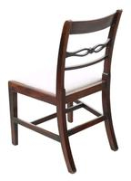 Pair of Georgian mahogany dining side hall bedroom chairs C1800 (3 of 7)