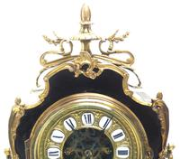 Fine French Ebony & Ormolu Boulle Mantel Clock – Farcot Skelton Dial 8 Day Mantle Clock (6 of 9)