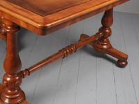 Pair of Victorian Satin Birch Library Tables (11 of 14)