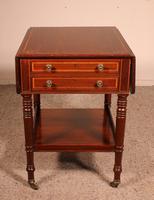 Pembroke Table In Mahogany & Inlay 19th Century - England (3 of 16)