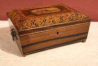 Regency Tonbridge Ware Castle Rosewood Sewing Box (3 of 8)