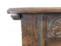 Antique 18th Century Joined Oak Coffer (8 of 15)