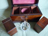 Rosewood Twin Canisters + Bowl Tea Caddy c.1840 (16 of 16)