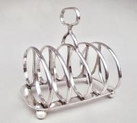 Fabulous Regency Revival Silver Toast Rack by Pairpoint Brothers, London 1932 (2 of 8)