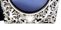 Antique Edwardian Sterling Silver Double Folding Photo Frame 1902 (7 of 10)
