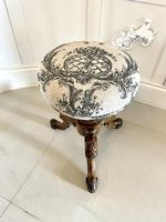 Quality Antique Victorian Carved Walnut Revolving Piano Stool