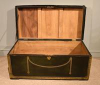 19th Century Camphor Leather Travelling Trunk (2 of 7)