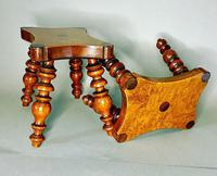 Pair of Lace Makers Candle Stools (2 of 6)