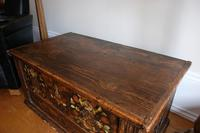 19th Century Austrian Folk Art Painted Pine Coffer (10 of 23)