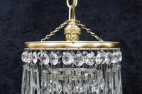 Italian  Art Deco 3 Tier Crystal Glass Chandelier (3 of 7)
