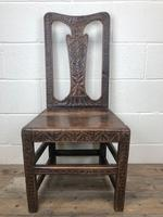 Antique Victorian Carved Oak Chair (11 of 14)