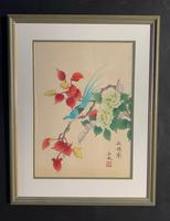 Very Attractive Set of Four Chinese Watercolours on Silk Pictures (2 of 5)