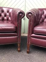 Pair of Antique Leather Gentleman's Club Armchairs (4 of 8)