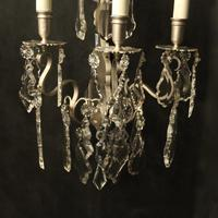 French Pair of Silver Gilded Wall Sconces (4 of 10)