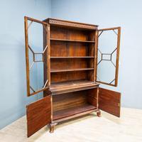 Mahogany & Burr Walnut Glazed Bookcase (2 of 11)