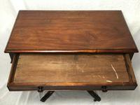 Antique Regency 19th Century Circa 1820 Irish Campaign Side Table With Drawer (6 of 12)