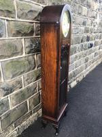 Antique Oak Triple Weight Granddaughter Clock (10 of 10)