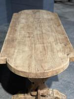 Large Rustic French Bleached Oak Farmhouse Dining Table (12 of 40)